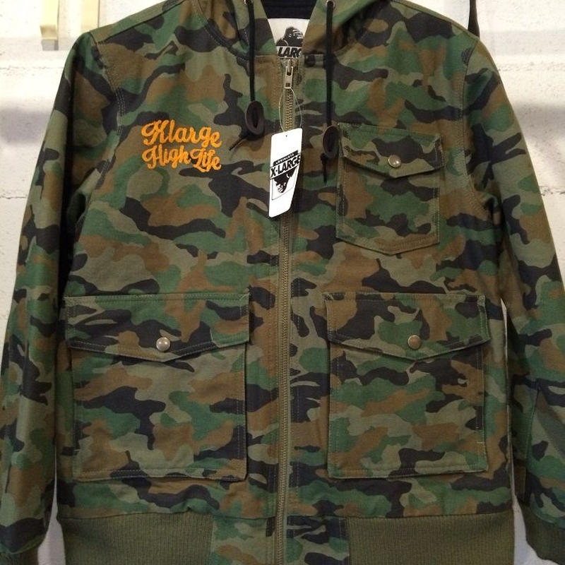 "XLARGE ""CAMO HOODED DUCK JKT"""