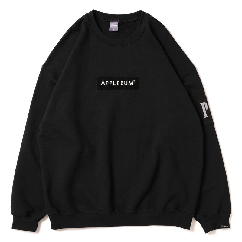 PLAY for APPLEBUM Embroidary BOX LOGO Crew Sweat