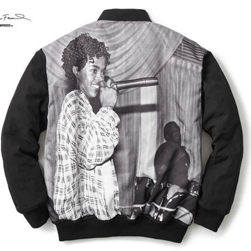 "INTERBREED ""L.BOOGIE COLLECTION QUEEN OF RAP VARSITY JACKET"""