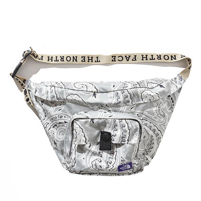 Paisley Print Logo Tape Lightweight Waist Bag