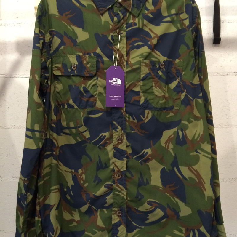 """THE NORTH FACE PURPLE LABEL """"CAMOUFLAGE PRINT SHIRT"""""""