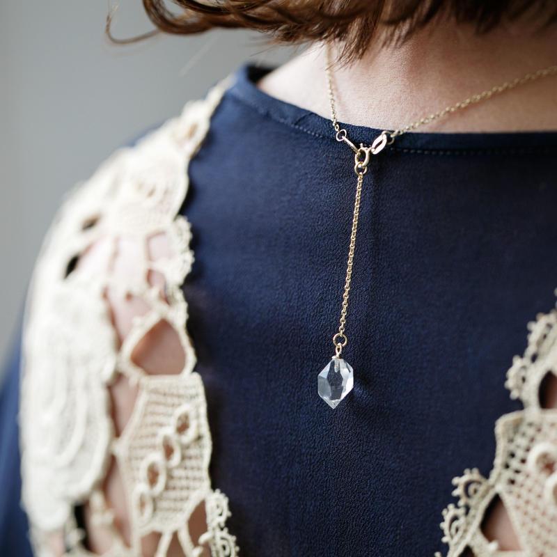 ゆれるハーキマーダイヤモンド(ペア) Lサイズ