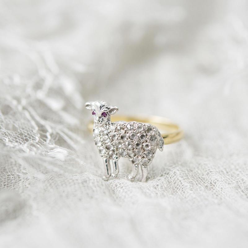 子羊のダイヤモンドリング(K18) *三國万里子 limited edition