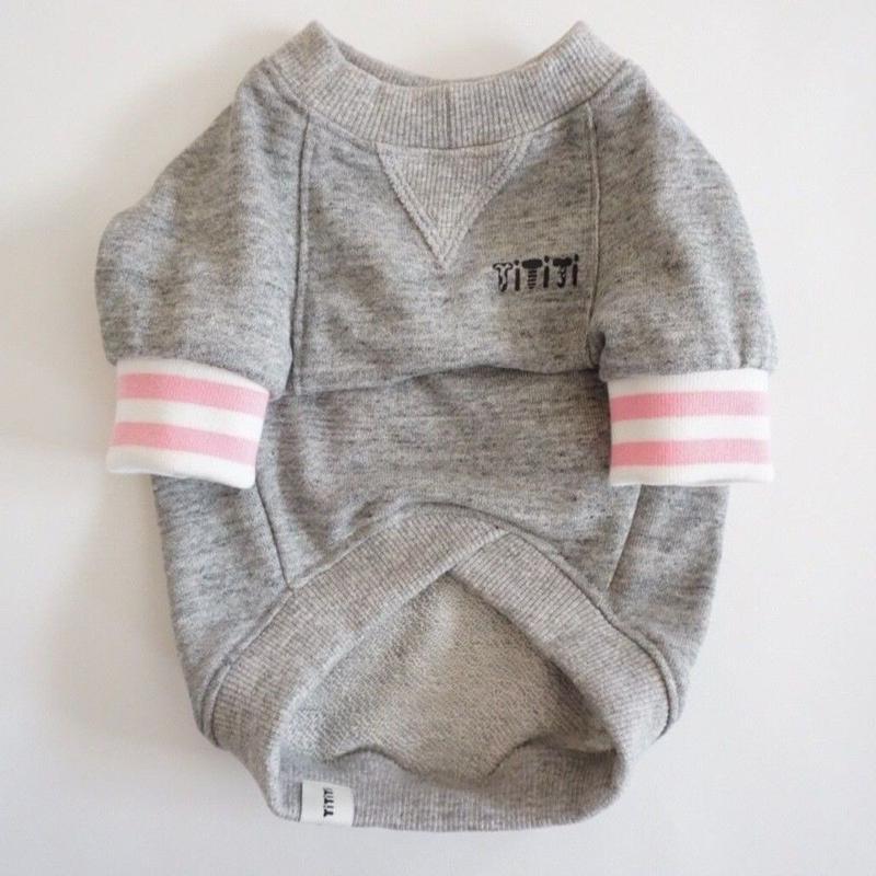 tititiのスウェットusude:ラグランTシャツ//ホワイト×ピンク         【フレブル服TiTiTi】