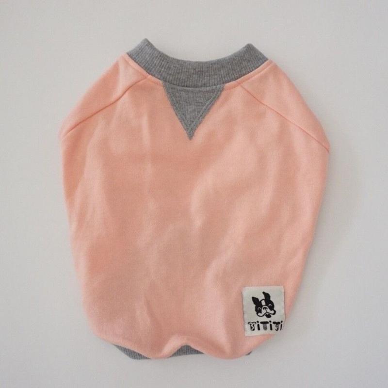 スウェットTシャツ // ピンク       【フレブル服TiTiTi】