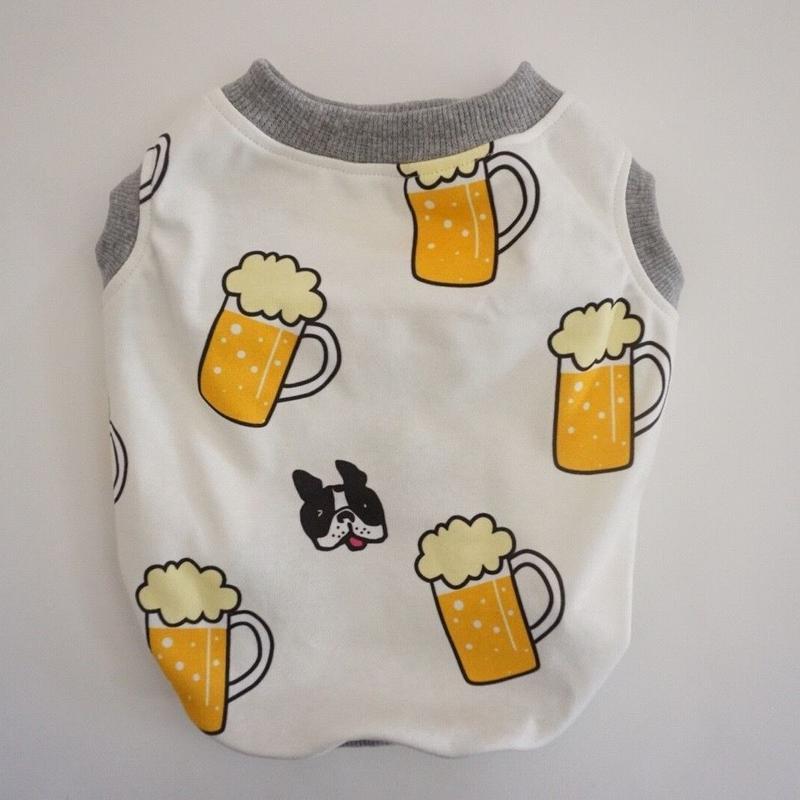 《beer》タンク//ホワイト      [フレブル服TiTiTi]