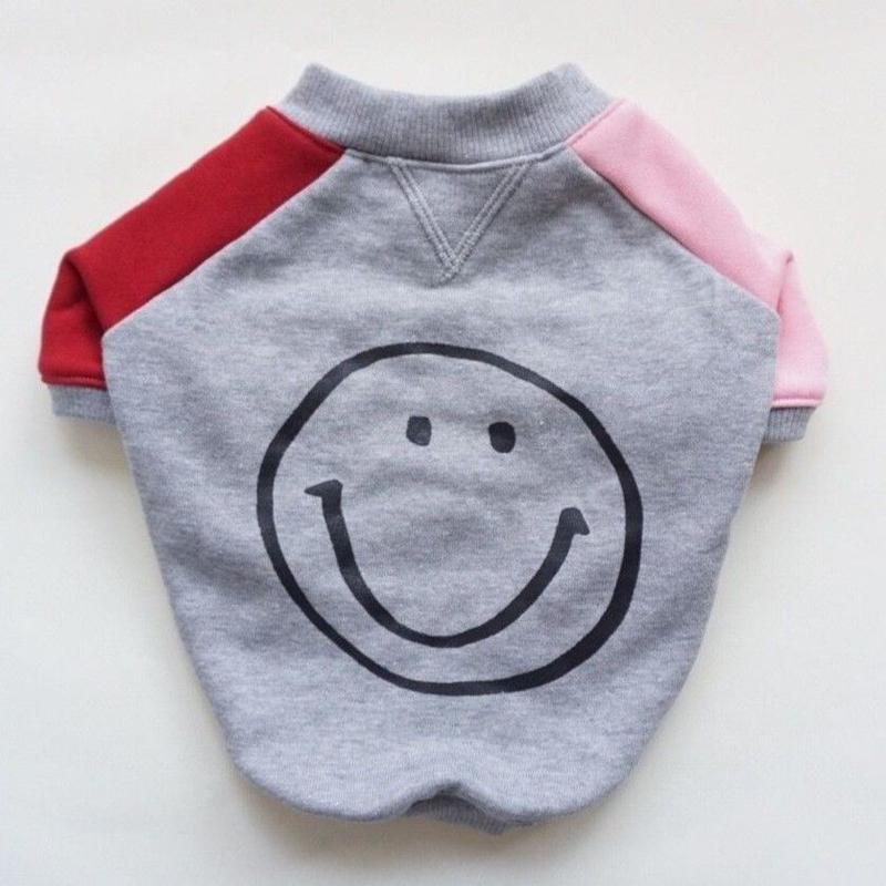 smileスウェットTシャツ // ピンクレッド