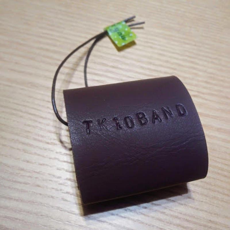 TK10BAND(てけと~バンド)こげ茶 ひもつき小 【トートバッグの持ち手をまとめるバンド】