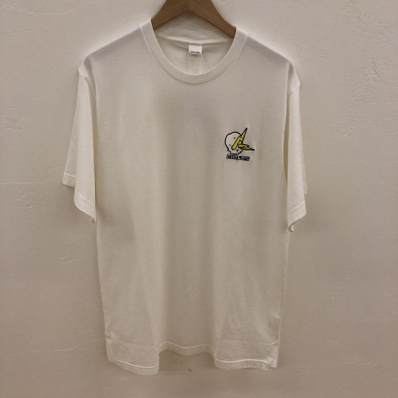 CHILDS EMBROIDERED CLEAN T