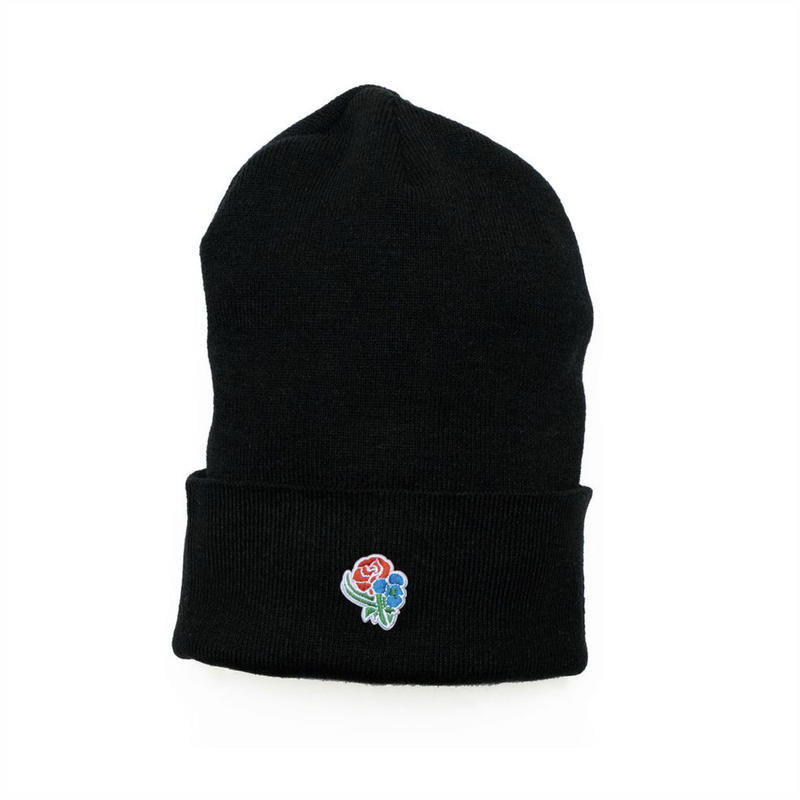 VIOLA&ROSES 100% Poly Small Patch Beanie