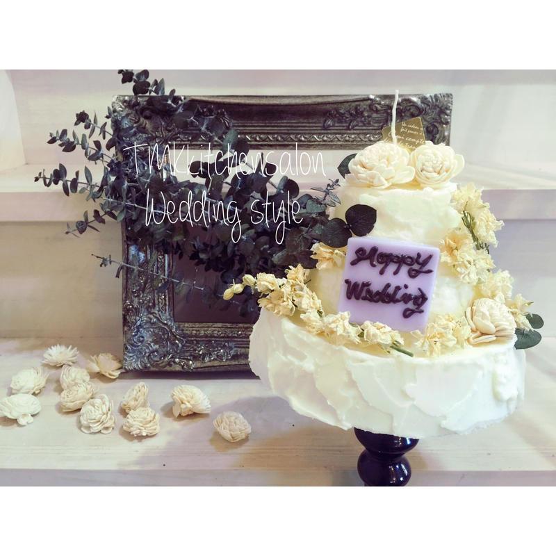 Weddingケーキキャンドル