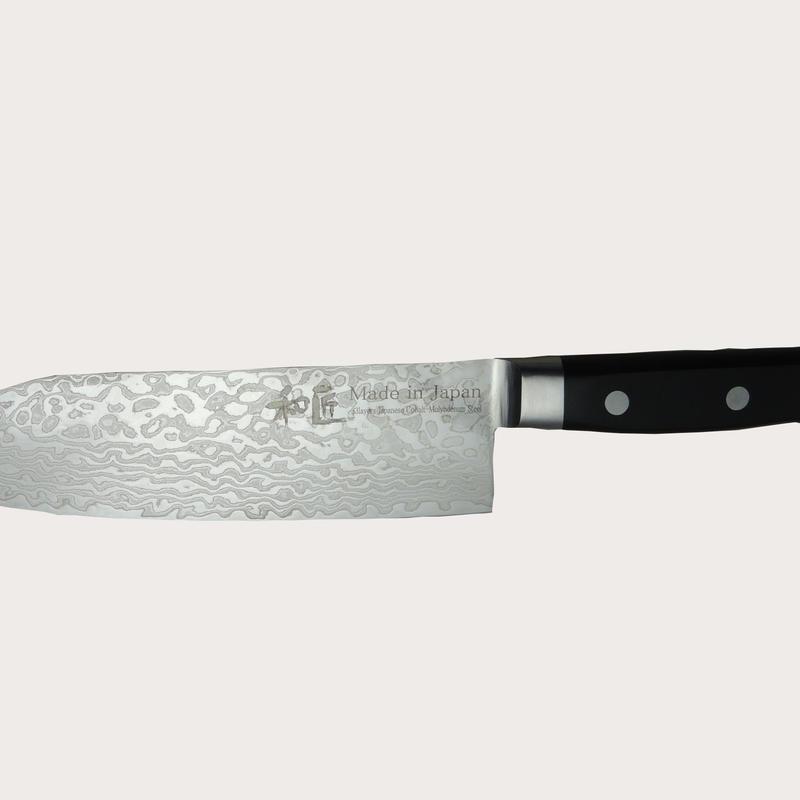 165mmダマスカス三徳包丁 165mm Damascus santoku kitchen knife