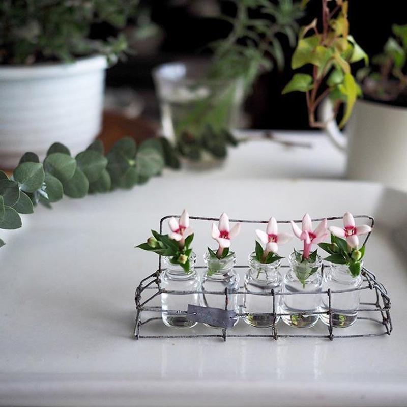 増田 由希子さんの花器  5つの小ビン(サビ)