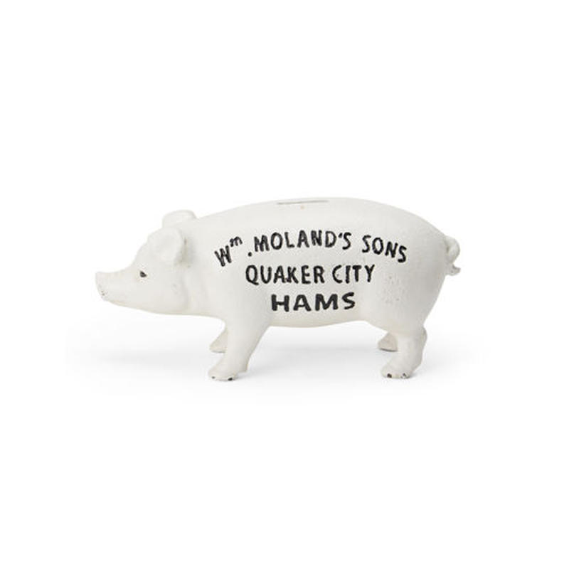 "Hams Standing Pig Bank ""White"""