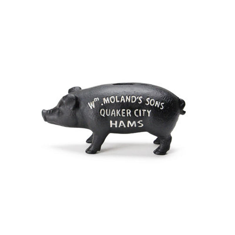 "Hams Standing Pig Bank ""Black"""