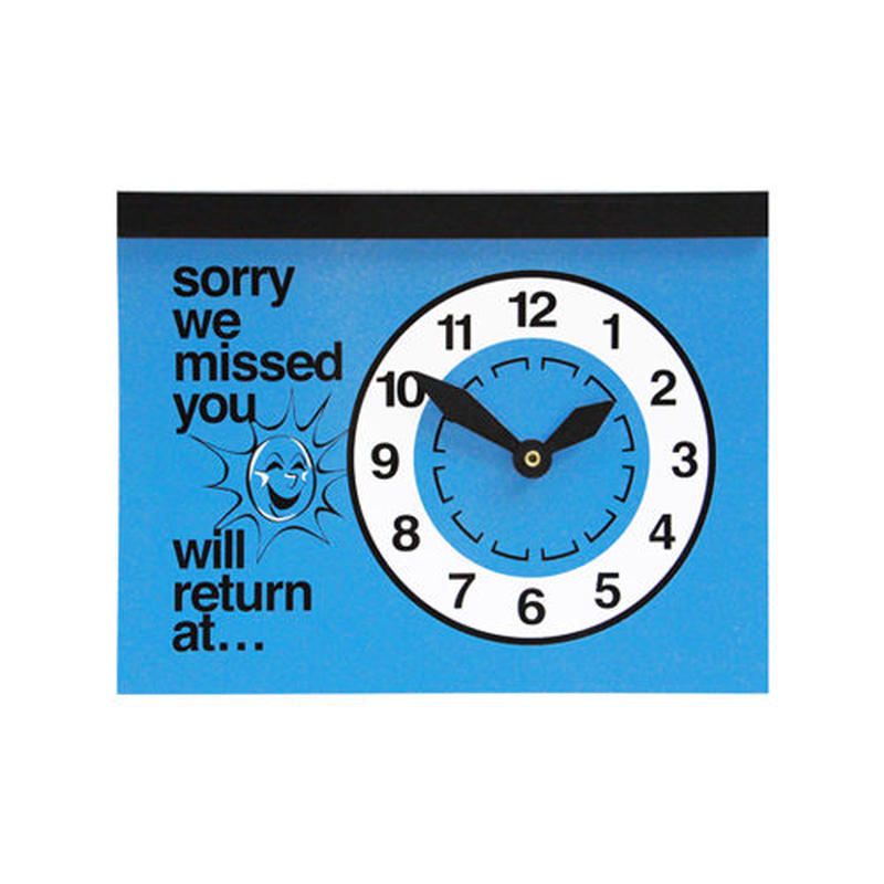 "Will Return at…""Clock Sign""  Blue"