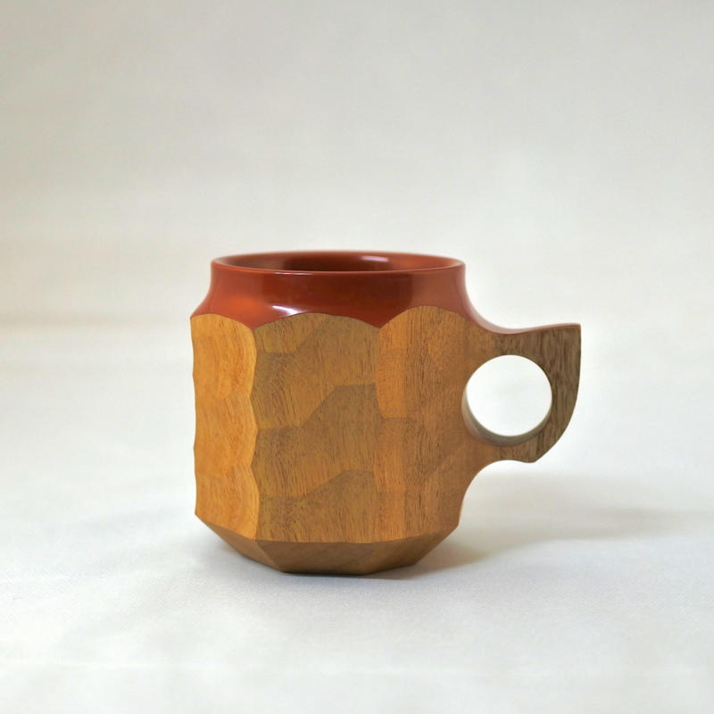 "JIN CUP ""urushi"" Red M"