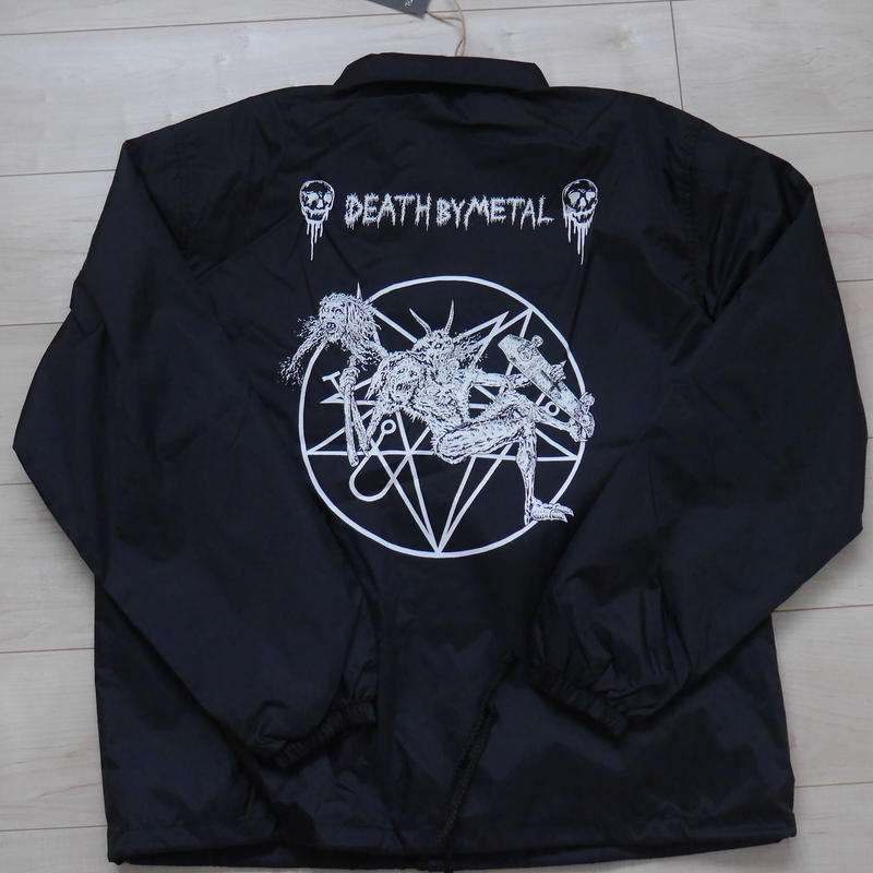 death by metal coach jacket : artwork by paranoid