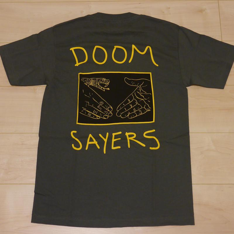 "DOOM SAYERS ""SS BLACK BOX"" ポケットTシャツ(GREY)"