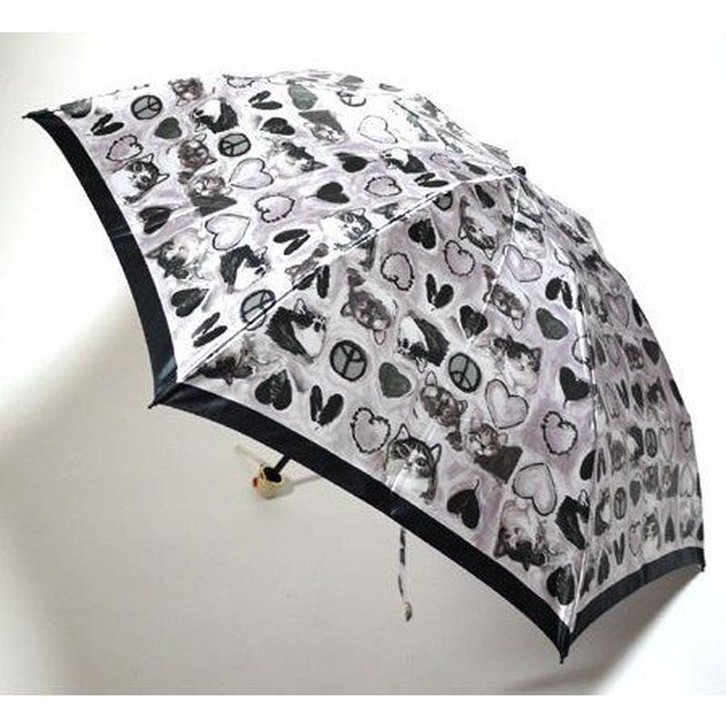 "Manhattaner's Folding Umbrella ""Heart and peace"""
