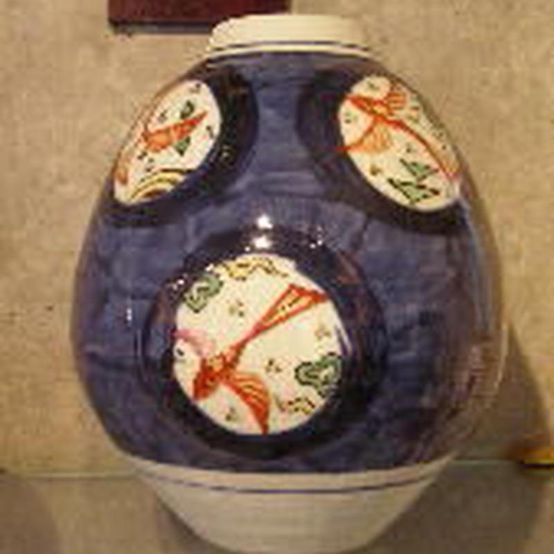 痴陶人(伊万里陶苑) 窓絵魚紋花瓶
