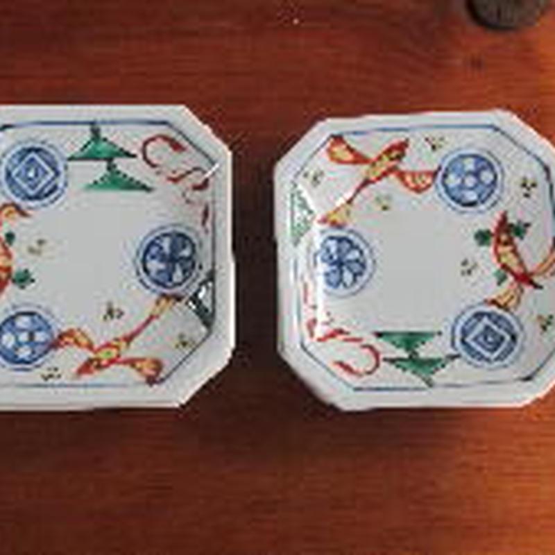 痴陶人(伊万里陶苑)魚藻紋銘々皿