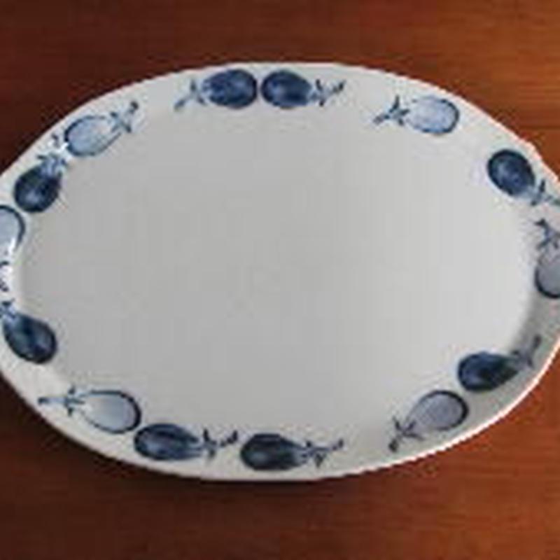 痴陶人(伊万里陶苑)茄子絵プレート皿