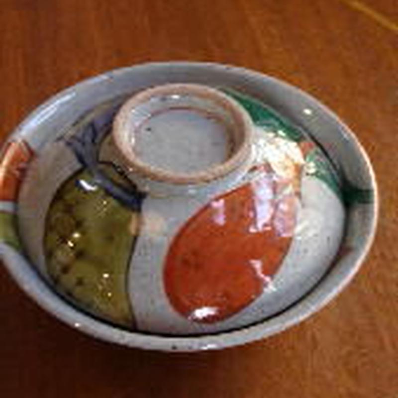 痴陶人(伊万里陶苑)長石染錦なす絵平蓋物