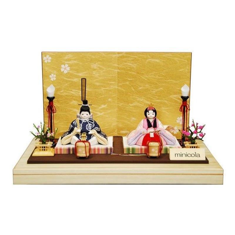 TOHGETSU-rico杏(あん)木目込み親王飾り金屏風