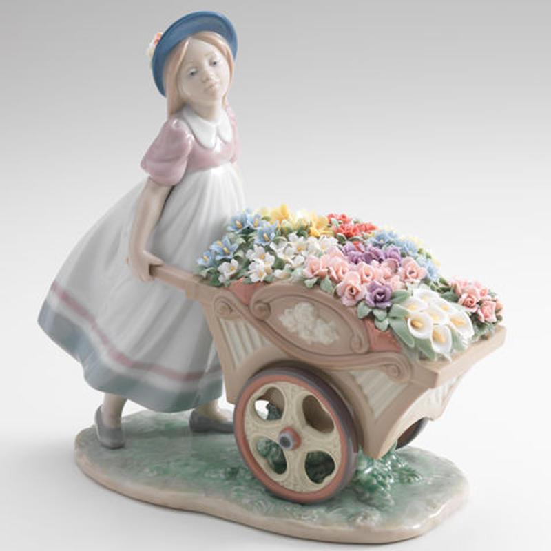 可愛いお花屋さん(H23×W23×D11cm)