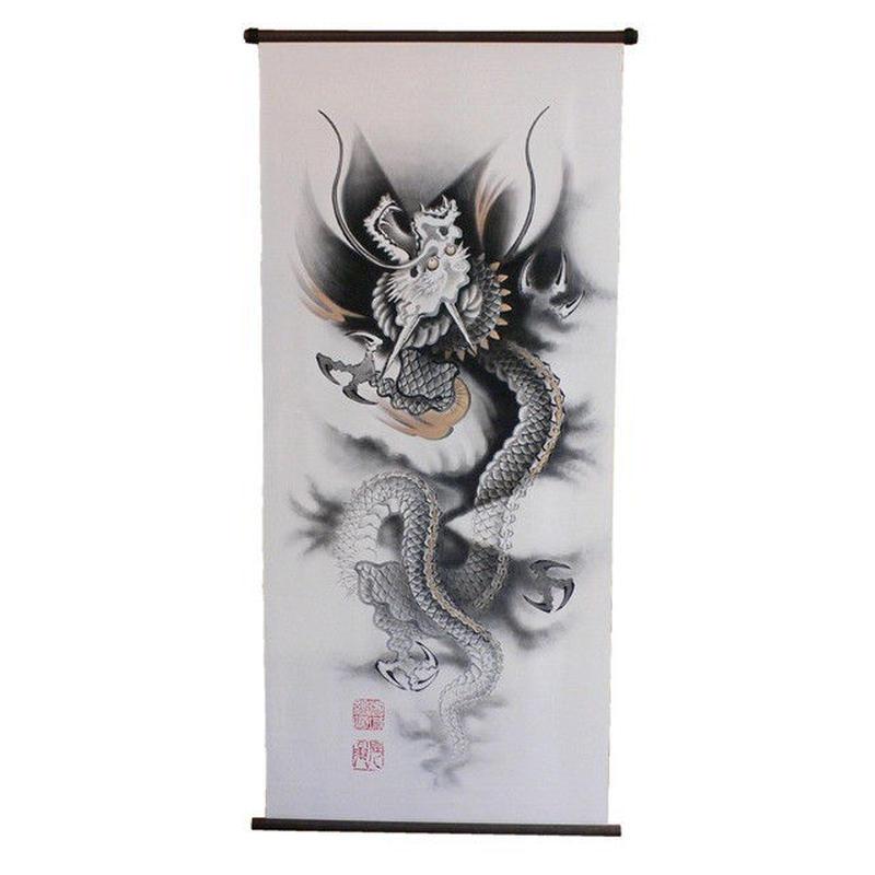 いわき絵のぼり 昇り龍 室内幟壁掛け(H170×W70cm)