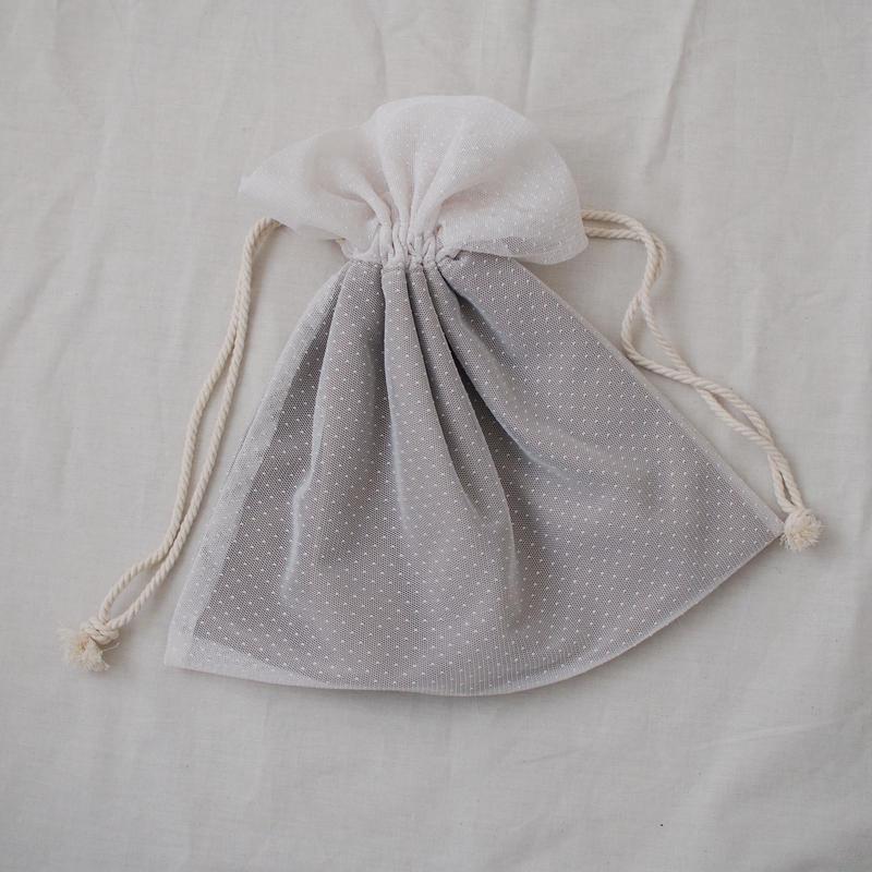 巾着バッグ(アイボリーチュール)