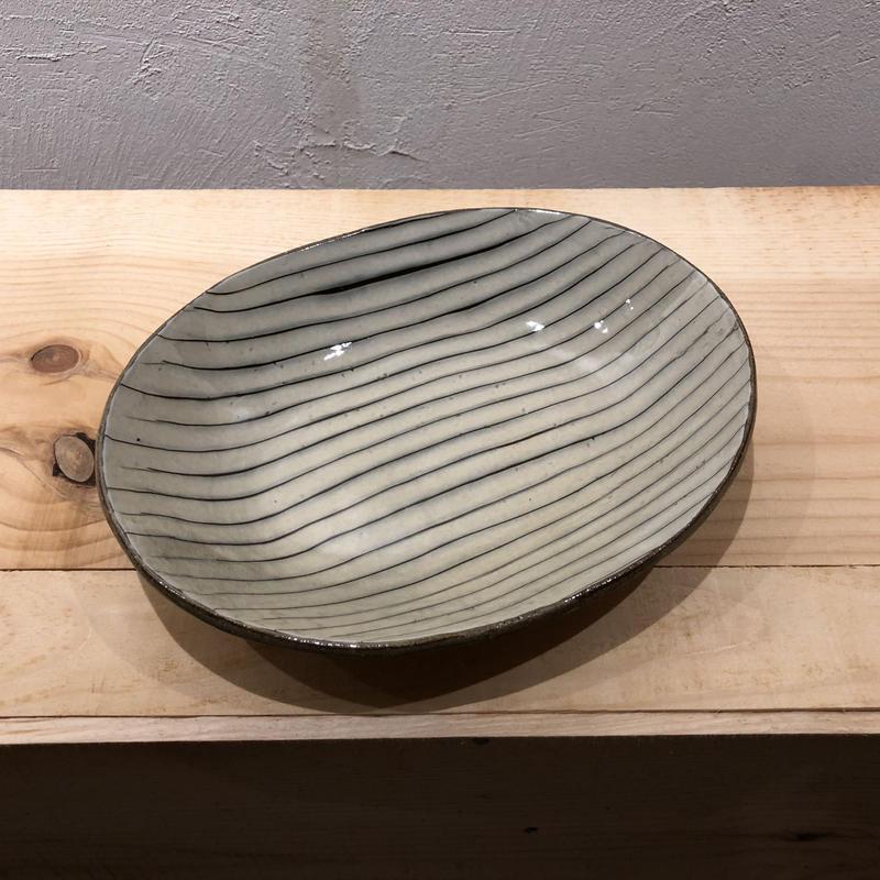 齊藤十郎 楕円カレー皿(白)