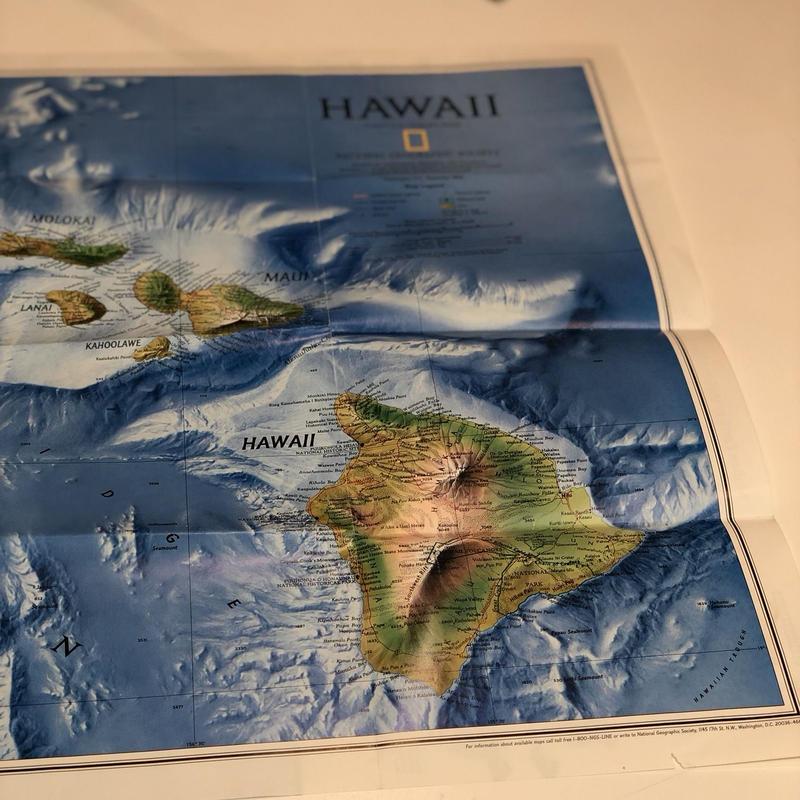 National Geographic社地形図[HAWAII 1995年製]
