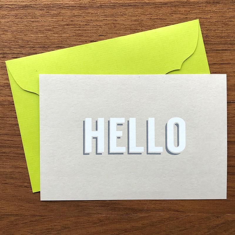"""メッセージカード """"ハロー"""" / Greeting Card """"HELLO"""""""