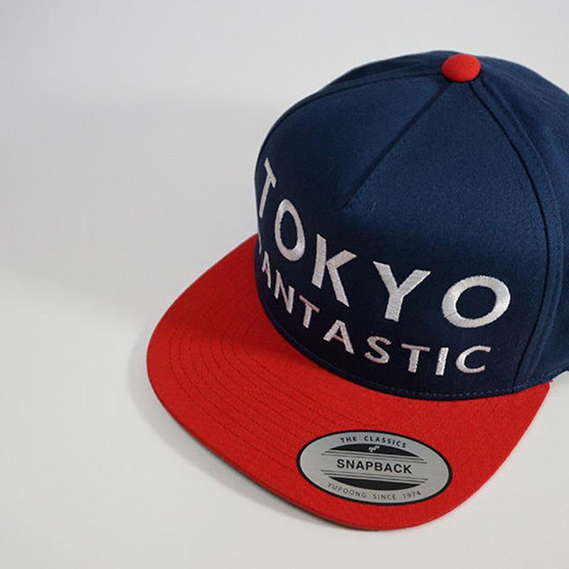 TOKYO FANTASTIC スナップバックキャップ【ネイビー&レッド】