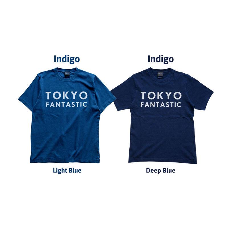 【インディゴ染め】TOKYO FANTASTIC Indigo ブランドロゴ Tシャツ
