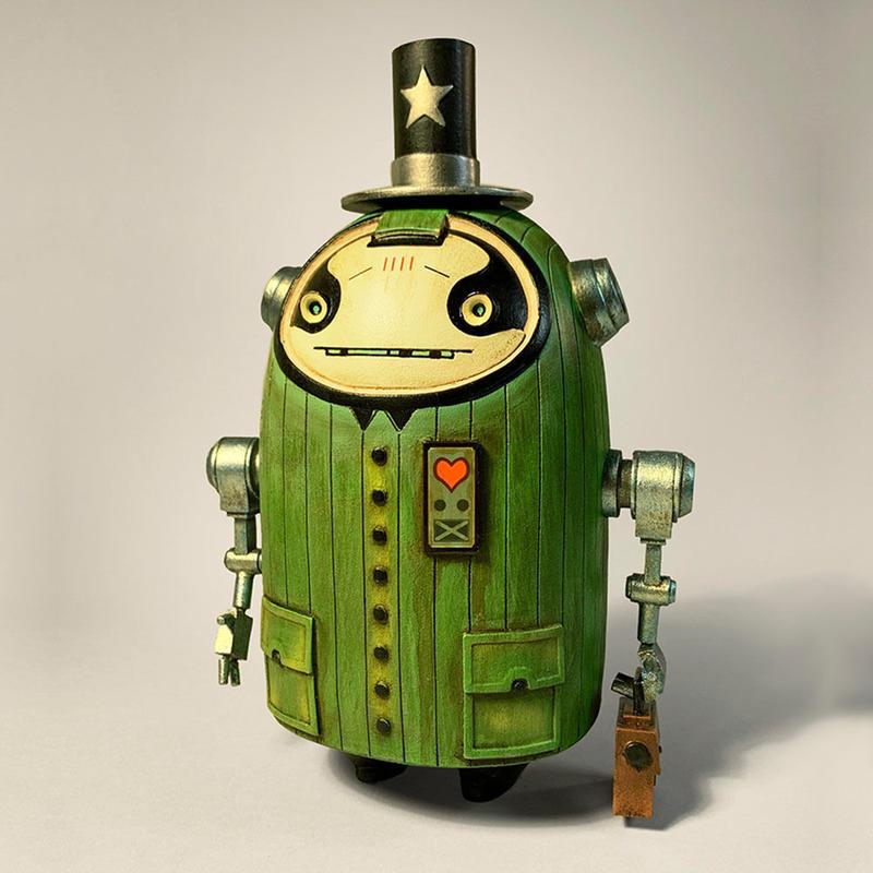 Prof. Harkin Resin Art Toy by Matt Gaser
