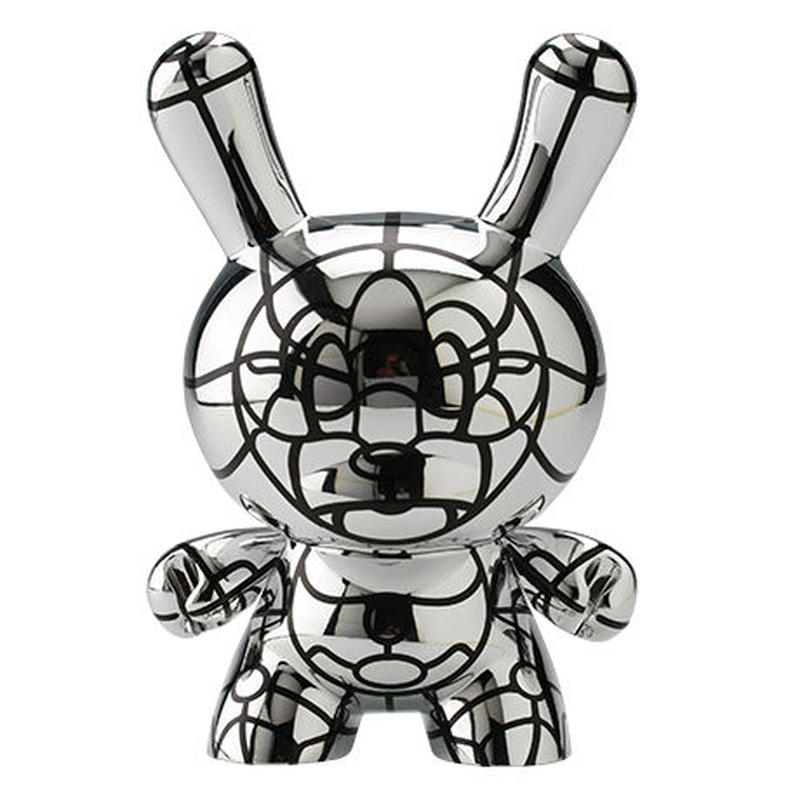 "Bad - Silver 8"" Dunny by David Flores"