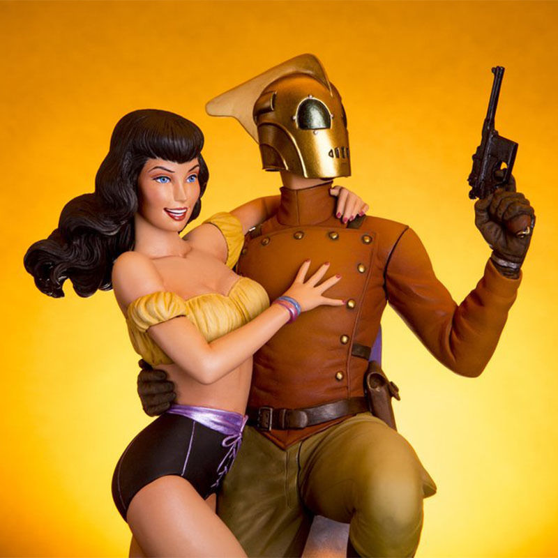 Rocketeer and Betty Statue by Mondo Art Collection