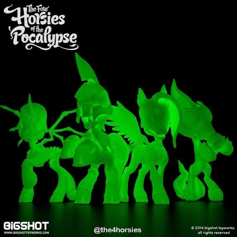 Four Horsies of the Pocalypse 4-Pack, GID Edition