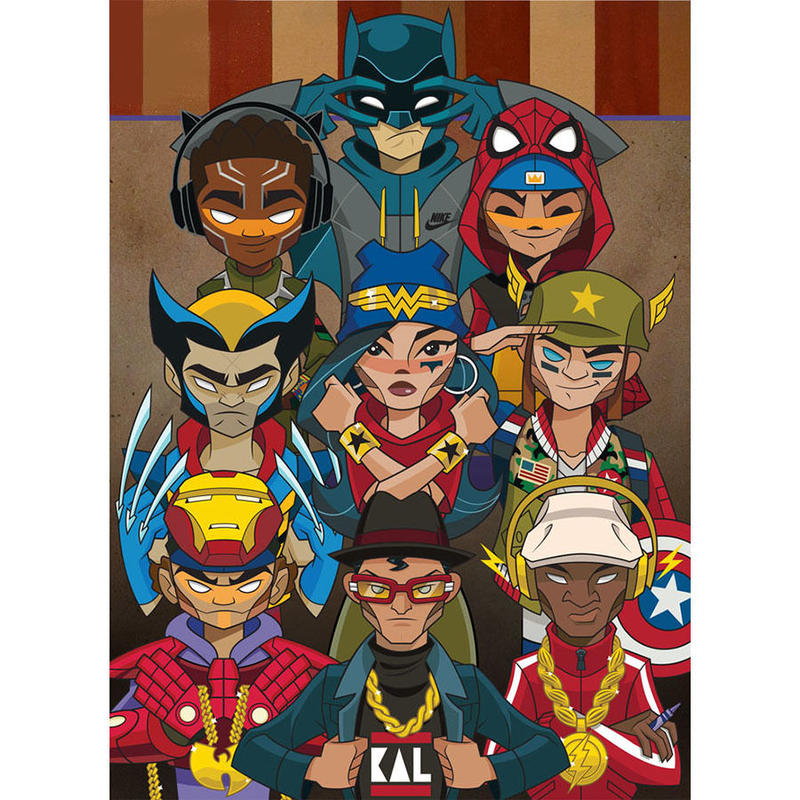Heroes Print by kaNO