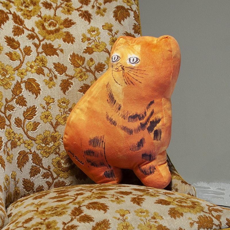 Andy Warhol Orange Sam the Cat Plush