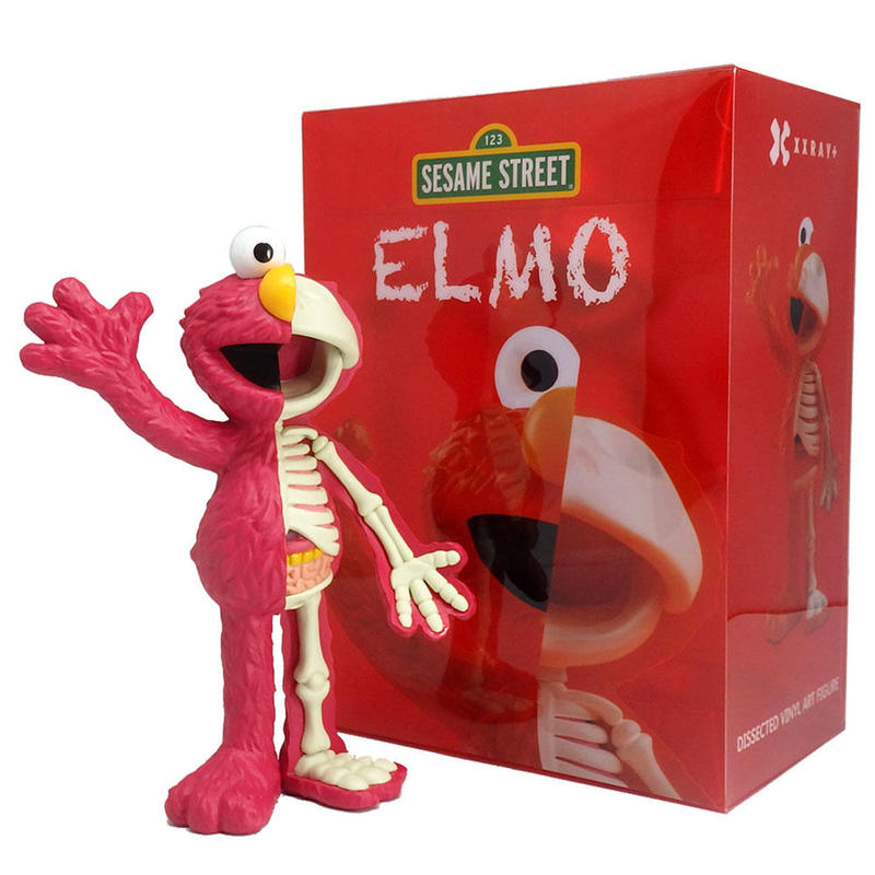 Sesame Street - Anatomical Elmo by Jason Freeny