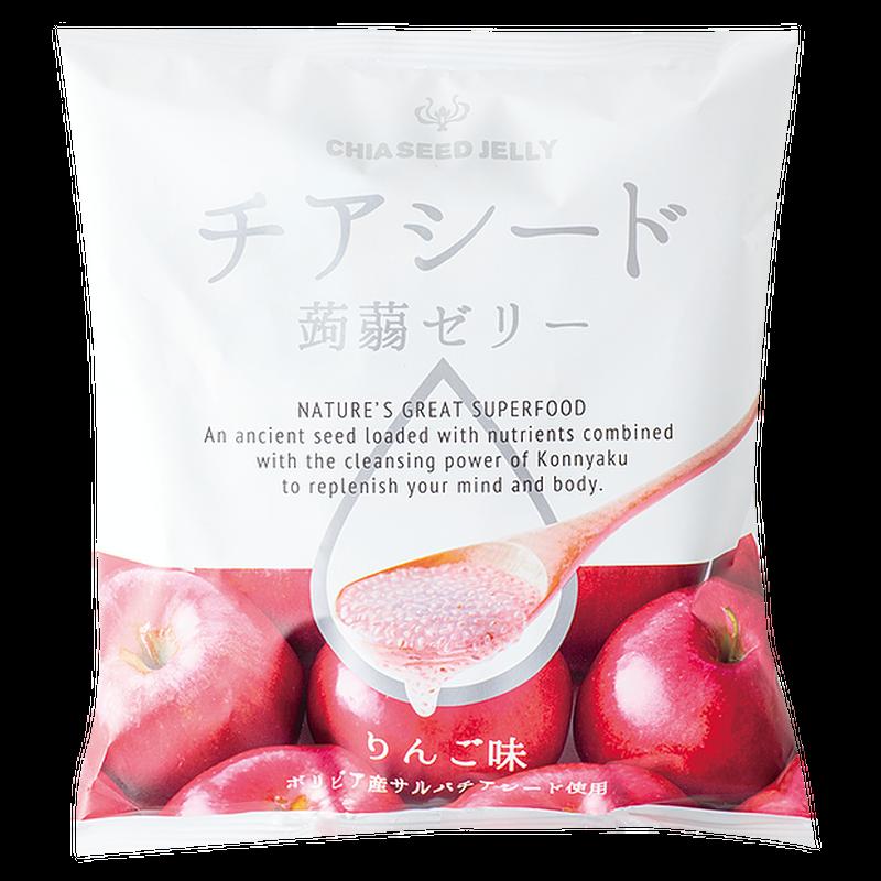 New!!チアシード蒟蒻ゼリー りんご味 (ケース 12袋入り)