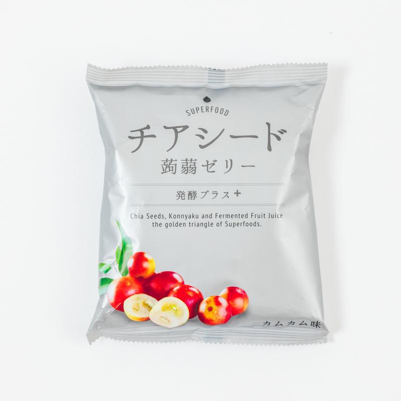 チアシード蒟蒻ゼリー 発酵プラス<カムカム味>12袋入り【送料無料】