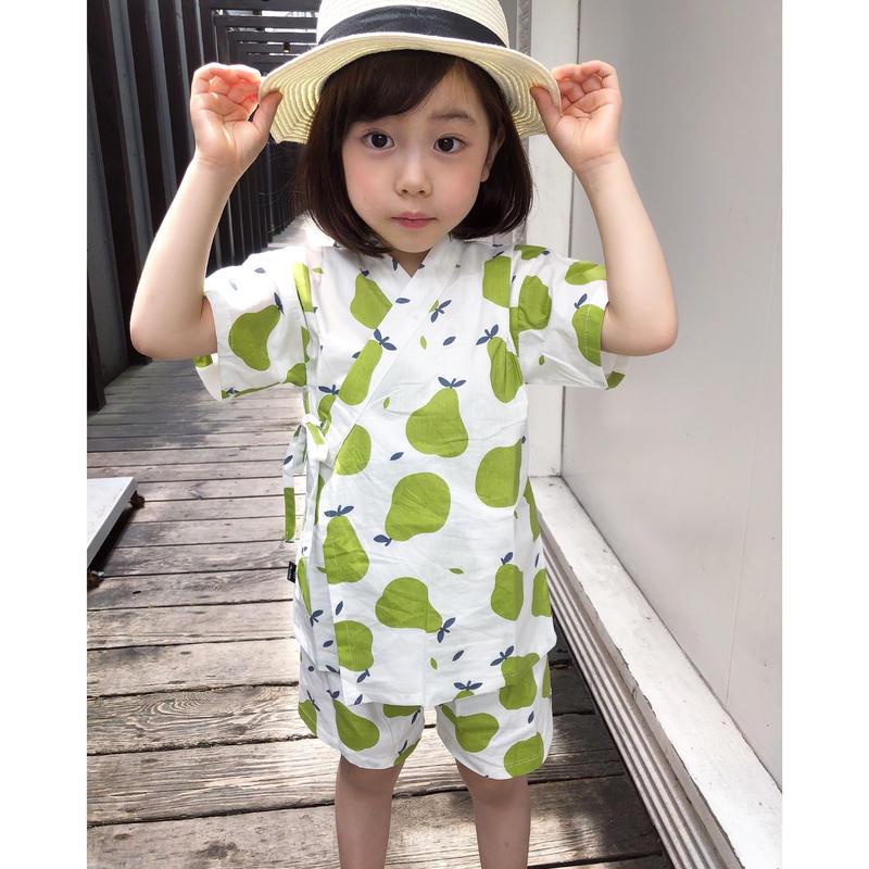 NEW(即納♡)(kids☆)ラフランス柄甚平