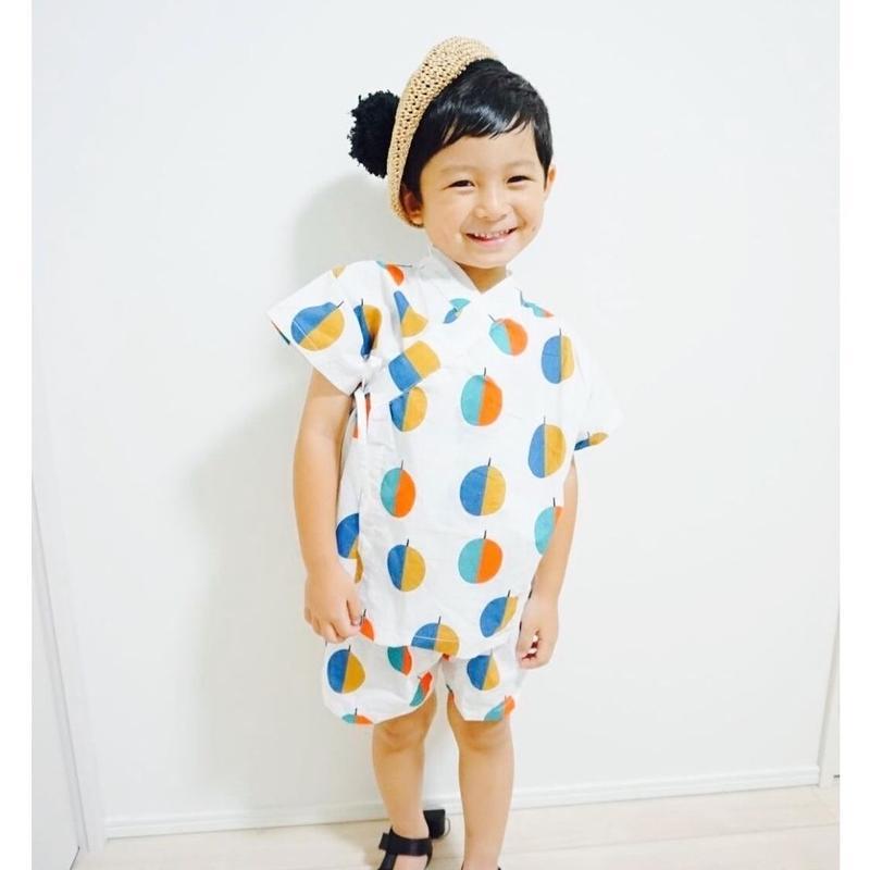 NEW(即納♡)(kids☆)木の葉柄甚平