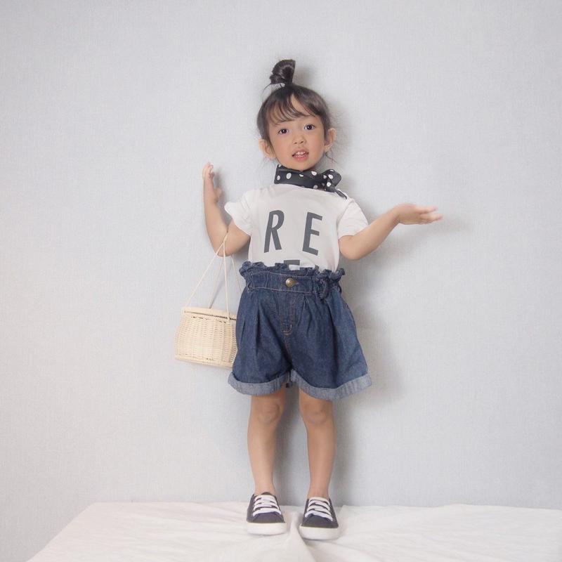 (即納♡)(kids☆)シンプルREBELロゴTシャツ
