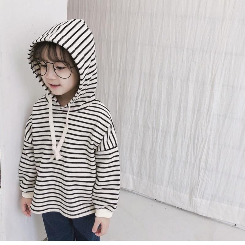 (即納♡)(kids☆)ボーダーホワイトパーカー